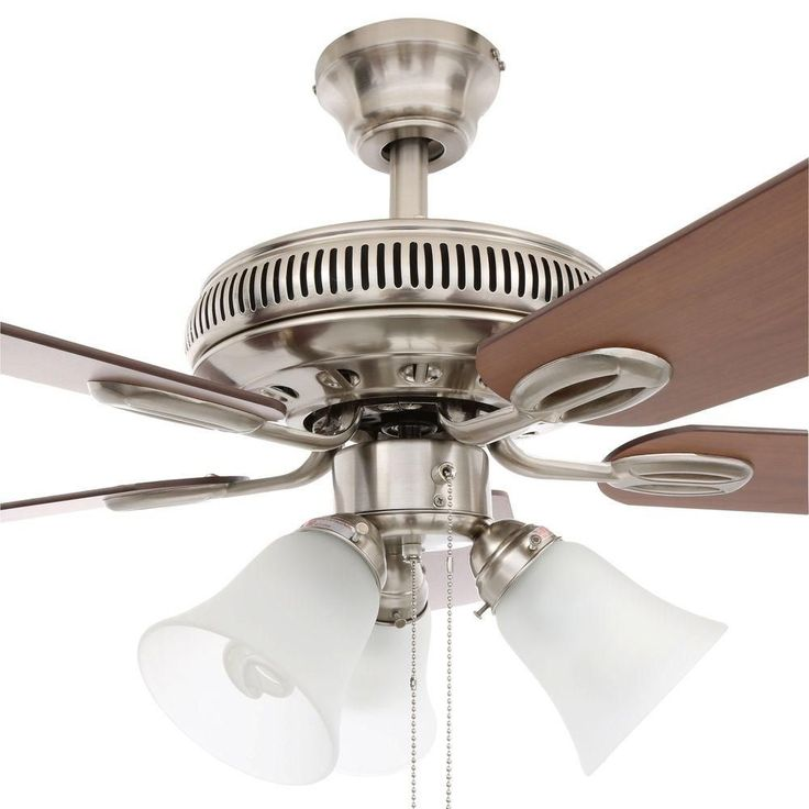 Brushed nickel ceiling fan w light kit new