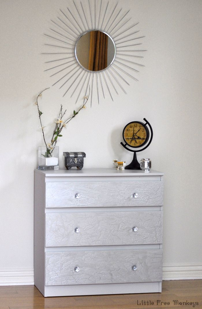 How To Do A Led Paint Malm Dresser Makeover Ikea Hacks Pinterest And