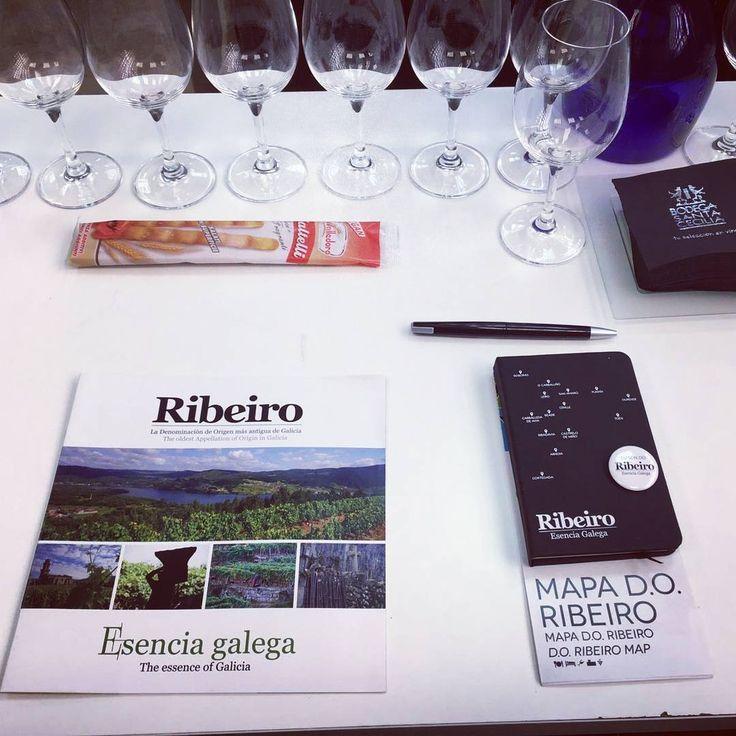 """""""Cata de vinos D.O. Ribeiro"""", los vinos de @pazocasanova, #prioratoderazamonde y #valdodeva, impartida por Cristina Alcalá, gerente del C.R.D.O. Ribeiro, en Bodega Santa Cecilia, """"Mes D.O. Ribeiro"""", en #Madrid.  #wines, #wine, #vinos, #vino, #spanishwines, #ribeirowines, #doribeiro, #ribeiro, #eslomejor, #esenciagalega, #galicia, #ourense, #orense, #winelovers, #instavino, #instawine, #winestagram, #winelife, #vinoribeiro, #ribeirowine, #descobregalicia, #descubreribeiro, #movimientoribeiro…"""