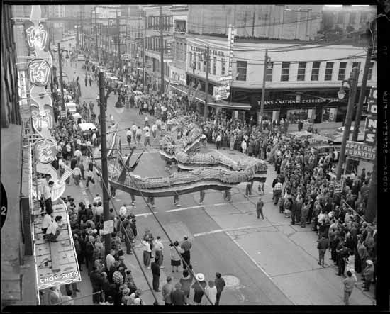 1960 – Parade in Chinatown. VPL Number: 79795B. Photographer: Don LeBlanc.