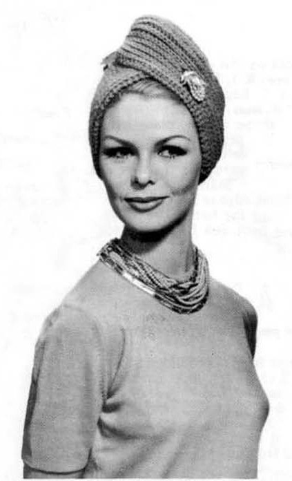 Vintage Knitted Turban Hat Pattern For Mama Pinterest