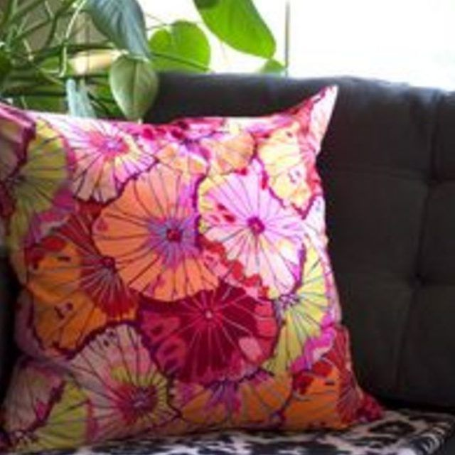 Make your own throw pillow.