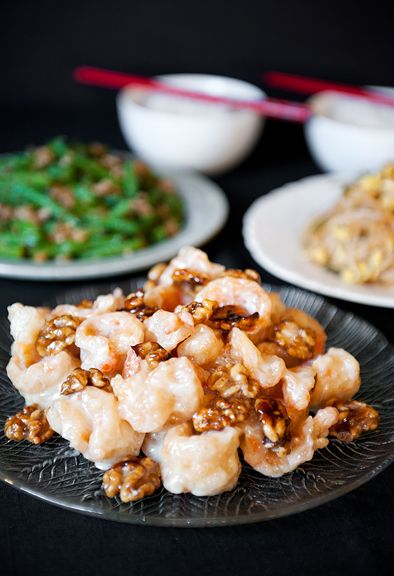 Chinese honey walnut shrimp recipe.