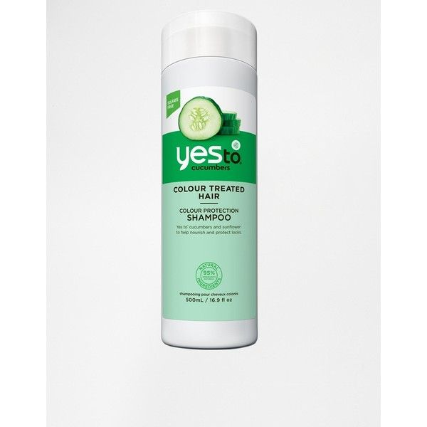 Yes To Cucumbers Color Care Shampoo 500ml ($16) ❤ liked on Polyvore featuring beauty products, haircare, hair shampoo and cucumbers