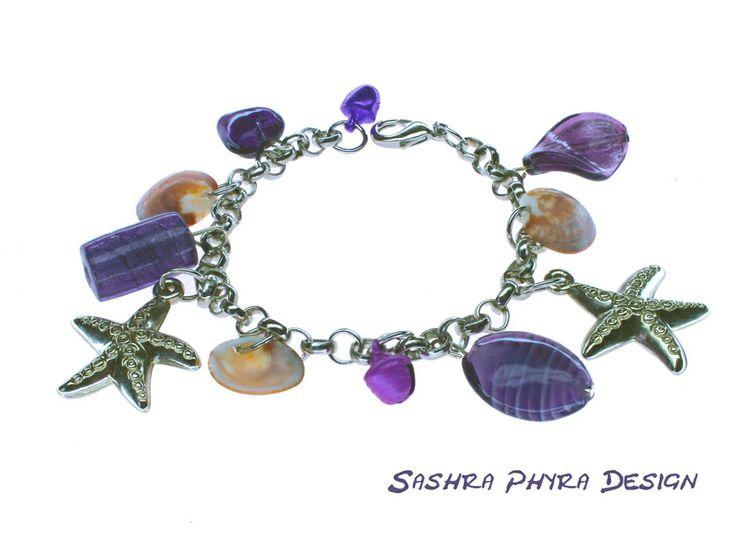 Sommer Armband mit 2 Glöckchen von Sashra Sommer-Design auf DaWanda.com