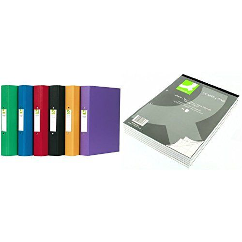 Q-connect A4 2 Ring Binder Polypropylene (pack Of 10) With A4 Graph Refill Pad 80 Leaf Kf02231 - Pack Of 10