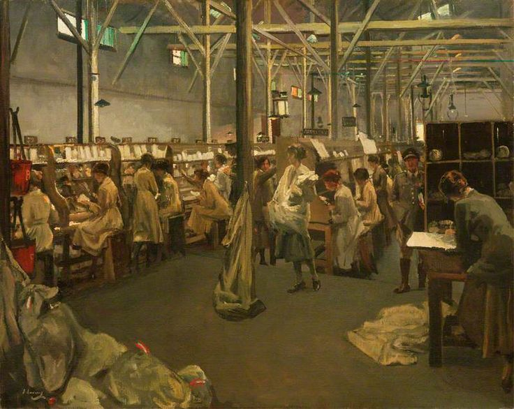 'Army Post Office 3, Boulogne', 1919 by John Lavery ~ IWM (Imperial War Museums)