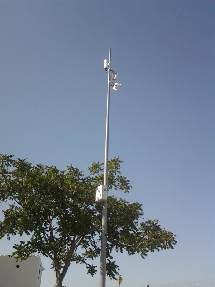 Internet rural en Antequera.   Antenas de Wimax