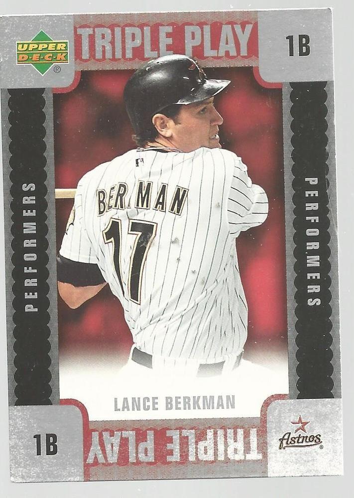Lance Berkman Triple Play Baseball Card 2007 Upper Deck TP-LB Unscratched #UpperDeck #HoustonAstros
