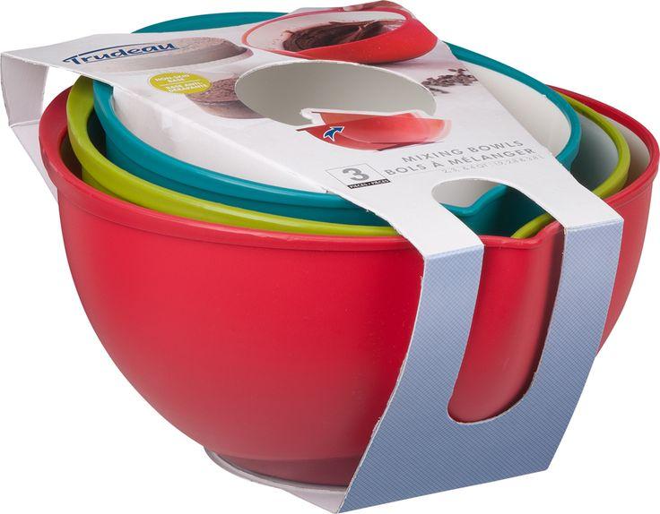 Набор из 3-х мисок для смешивания Mixing Bowls