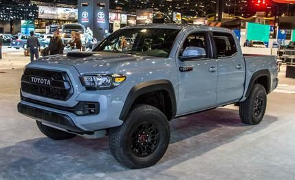 2017 Toyota Tacoma TRD Pro: The New Taco Goes Pro- new color for 2017 is called Cement, a light non-metallic gray. I like it!