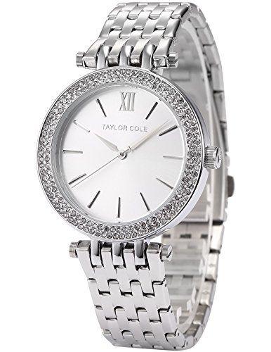 Sale Preis: Taylor Cole Damen Quarz Armbanduhr Silber Edelstahl Armband TC003. Gutscheine & Coole Geschenke für Frauen, Männer & Freunde. Kaufen auf http://coolegeschenkideen.de/taylor-cole-damen-quarz-armbanduhr-silber-edelstahl-armband-tc003  #Geschenke #Weihnachtsgeschenke #Geschenkideen #Geburtstagsgeschenk #Amazon