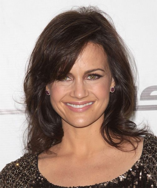 Carla Gugino Hairstyle - Medium Straight Casual - Medium Brunette