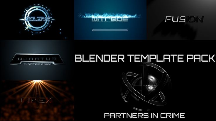 Blender intro template pack by partners in crime blender video blender intro template pack by partners in crime blender video effects and animations pinterest pronofoot35fo Gallery
