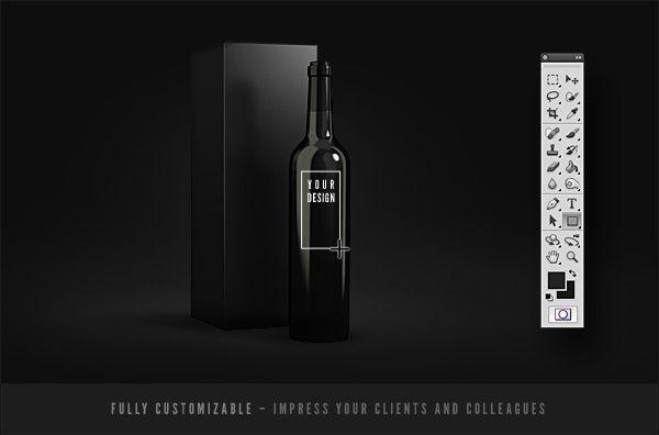 Mockup Gratuito De Packaging De Botellas De Vino Bottle Mockup Elegant Wine Bottle Ceramic Bottle