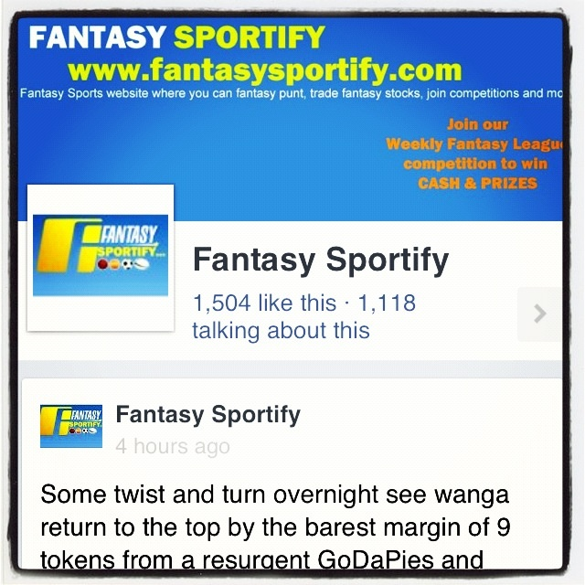 Fantasy Sportify has reached the 1500 Facebook LIKE milestone. Thank you to all those who have Liked us.