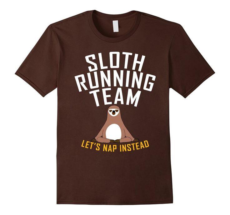 Sloth Running Team Let's Nap Instead Women T-Shirt