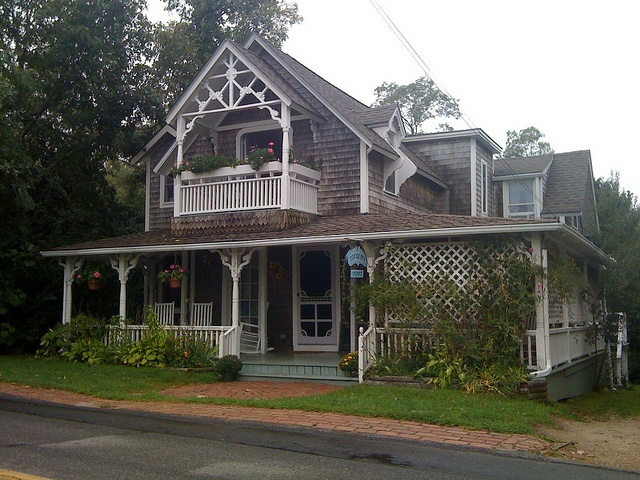 """Oak Bluffs Martha's Vineyard Mass.  Once known as """" Aunt Georgia's House"""" , this Bed & Breakfast catered to African-Americans in the early 20th century."""
