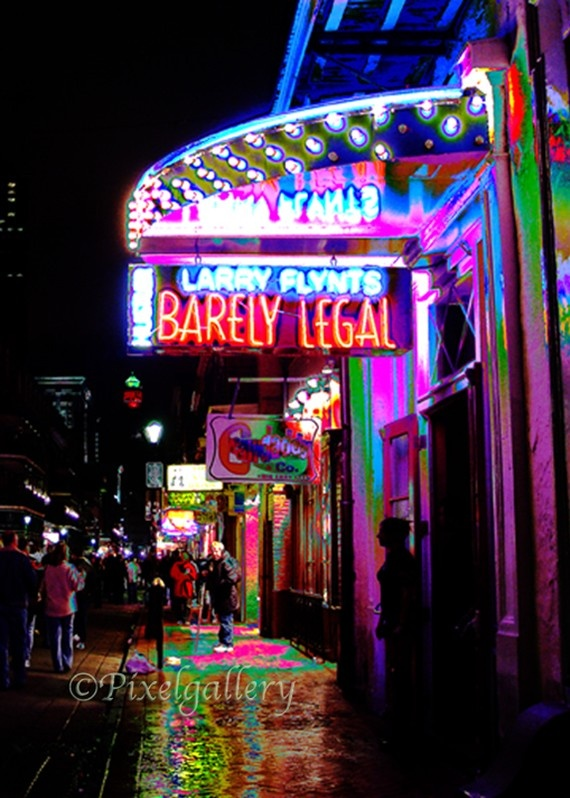Barely Legal on Bourbon Street - French Quarter, New Orleans