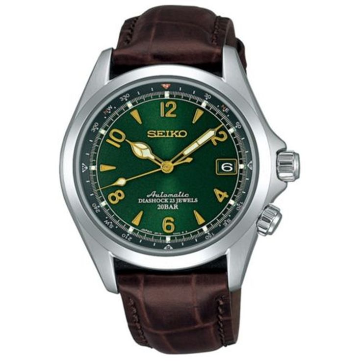 SEIKO SARB017 Mechanical Alpinist Automatic Men's Leather Watch – Made In Japan
