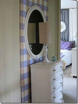 Hallway Decor - How to wrap fabric on  a large frame to add more impact to a wall.: Diy Ideas, Decor Ideas, Good Ideas, Wall Frames, Large Frames, Fabrics Wraps, Wall Accent, Frames Wall, Accent Wall