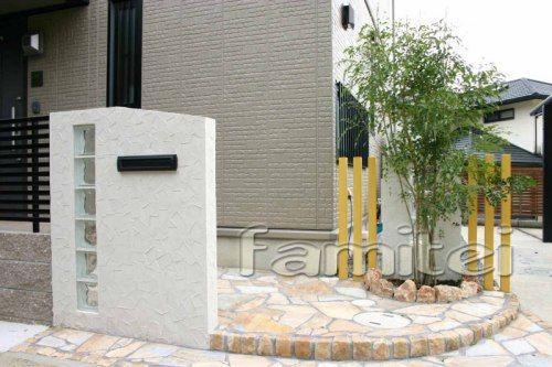 ガラスブロック門柱でスタイリッシュに:*:・゜'☆,。:(外構・庭・リフォーム)エクステリア情報