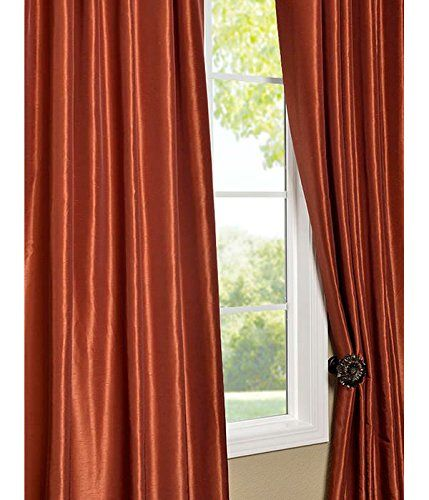 Half Price Drapes PDCH-KBS16-108 Vintage Textured Faux Dupioni Silk Curtain, Burnt Orange  http://www.curtainhomes.com/half-price-drapes-pdch-kbs16-108-vintage-textured-faux-dupioni-silk-curtain-burnt-orange/