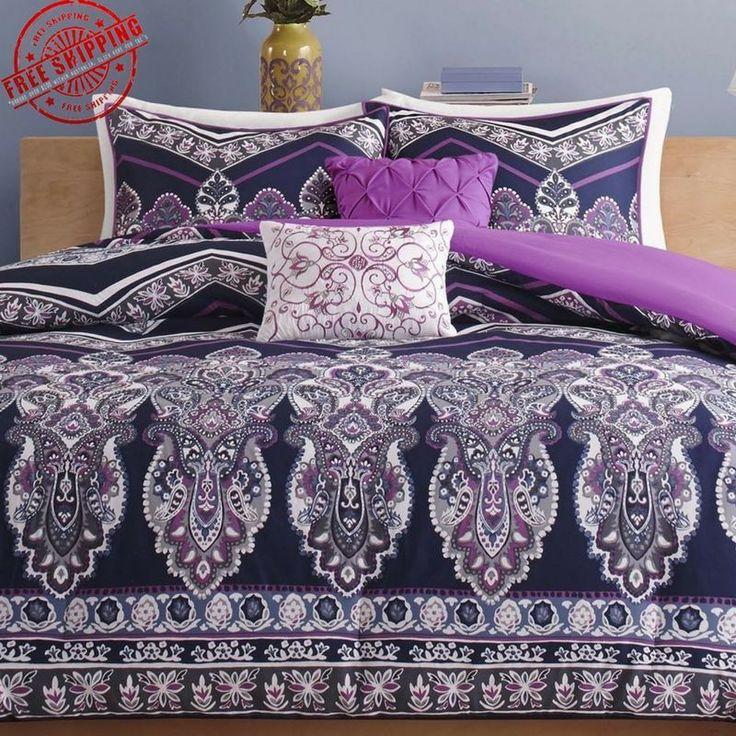 Comforters For Teen Girls Girl Vogue Comforter Set Twin XL Size Bed Purple Sets