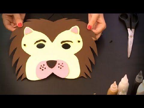 como hacer a batman con cosas recicladas | Cómo hacer un antifaz de león : Antifaces de animales para niños ...