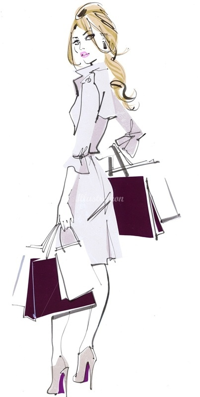 Fashion Illustrator, Jacqueline Bissett .