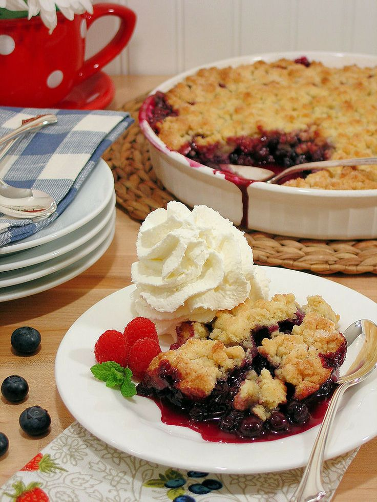 Best Ever Blueberry Cobbler {Gluten Free Option} by Wicked Good Kitchen