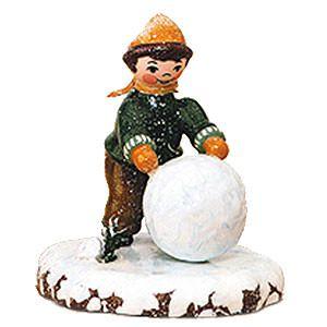 Winterkinder Junge mit Schneekugel von Hubrig Volkskunst