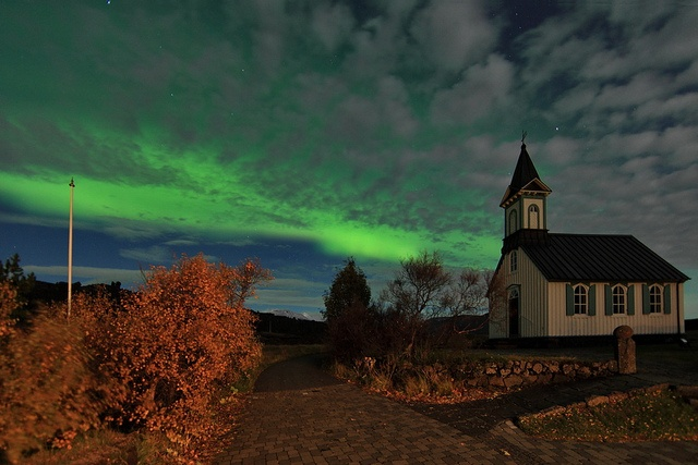 Northern lights tonight by olgeir, via Flickr