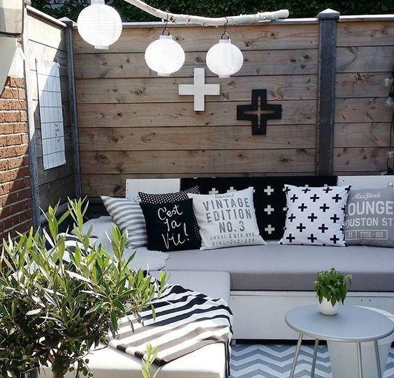 4480 best inspiratie voor in de tuin images on pinterest - Ideas para decorar una terraza ...