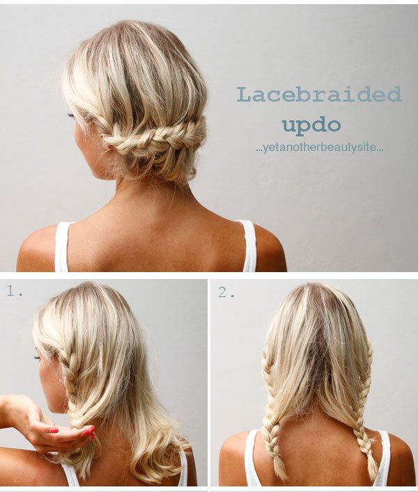 Divine Caroline contributor Ulrika has lots of braid tutorials on her site, but we are in love with this easy lace-braided updo. (A lace braid is just a French braid, but you add hair only on one side. This is a nice little tutorial if you need more help.)