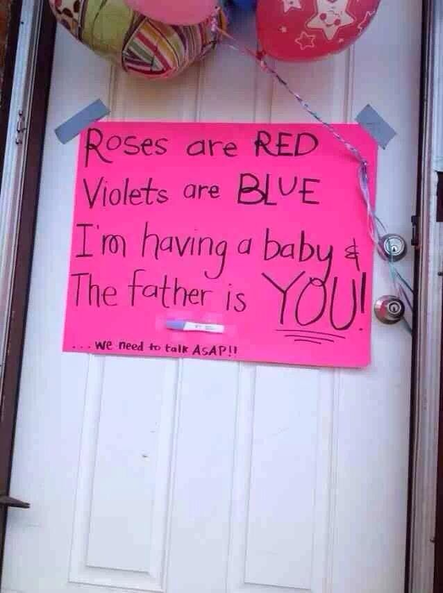 Cute pregnancy announcement to your husband!
