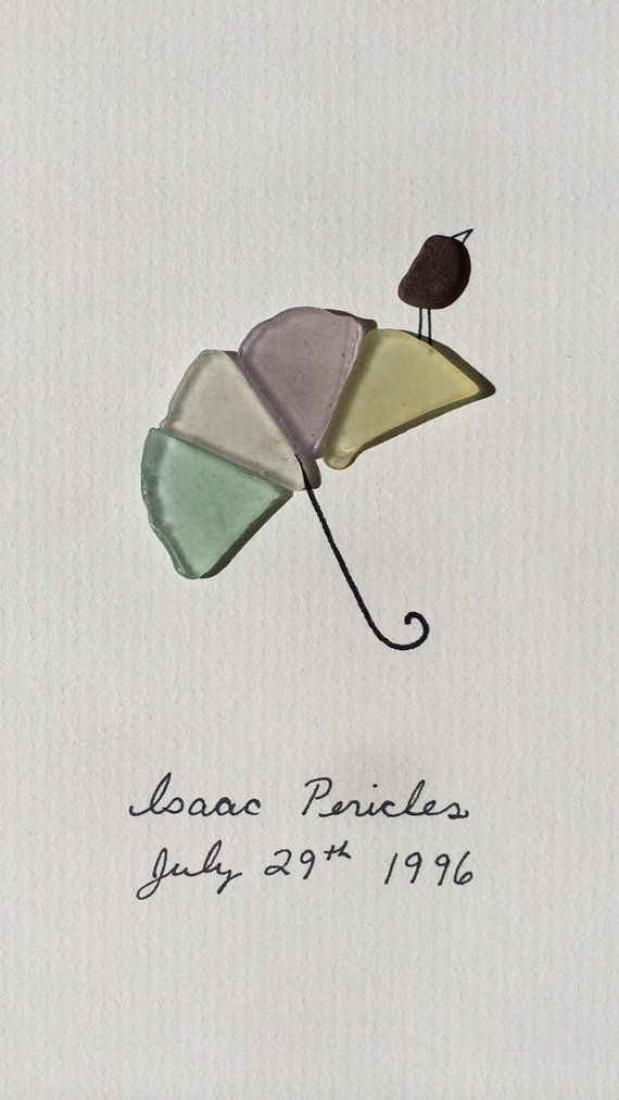 Sea glass umbrella by sharon nowlan by PebbleArt on Etsy