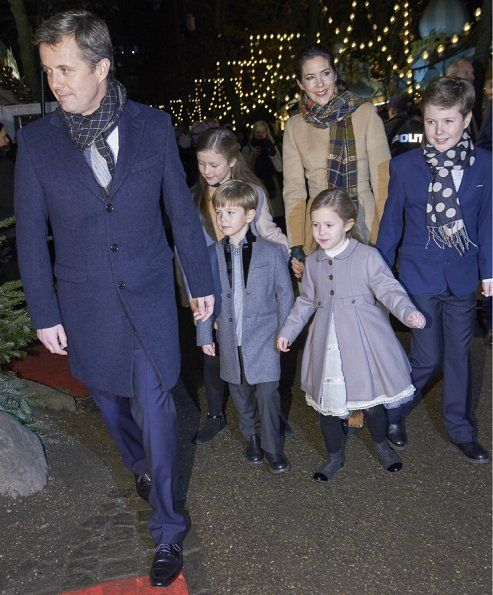 Queen Margrethe, Crown Prince Frederik, Crown Princess Mary, Princess Isabella, Prince Vincent, Princess Josephine and Prince Christian of Denmark, Countess Alerxandra (former married to Prince Joachim), Prince Felix and Prince Henrik attend the premiere of the ballet 'The Nutcracker' at Tivoli Concert Hall on December 1, 2016 in Tivoli Garden, Copenhagen, Denmark.