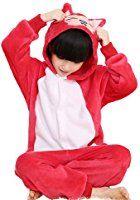 Onesies for kids Horcute Unisex-Children Animal Cartoon Cosplay Kigurumi Onesie Pajamas