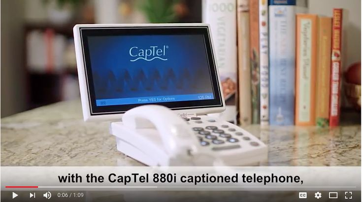 Ideal for people with low vision, who have difficulty viewing standard-sized captions, the CapTel 880i has extra large font sizes & display options for easy reading.