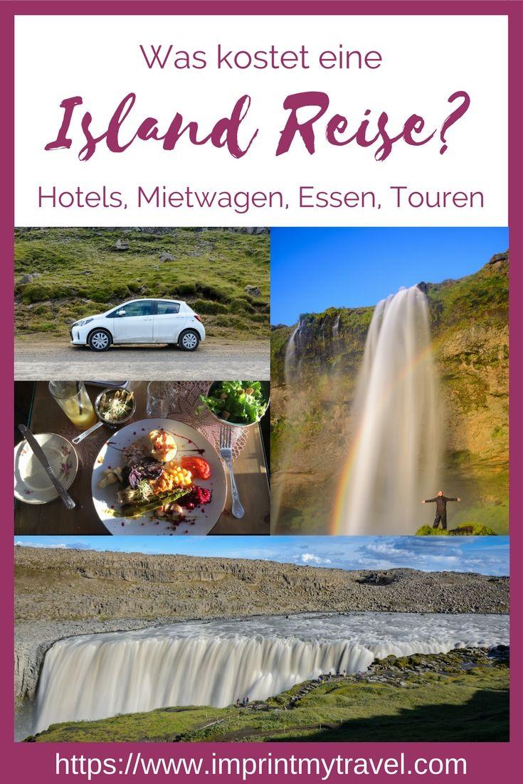 Reisekosten Island: was kostet eine Island Rundreise? Detaillierte Aufstellung der Kosten für Hotel, Mietwagen, Essen & Touren in Island.