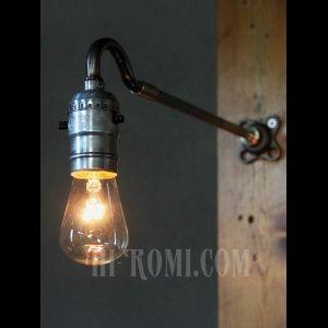 画像: USAヴィンテージ工業系LEVITON社製プッシュ式ソケットブラケットC/インダストリアル照明アンティークライト