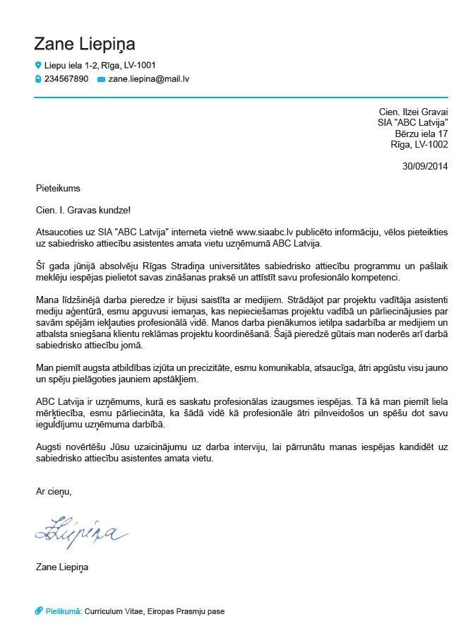 europass curriculum vitae paraugs
