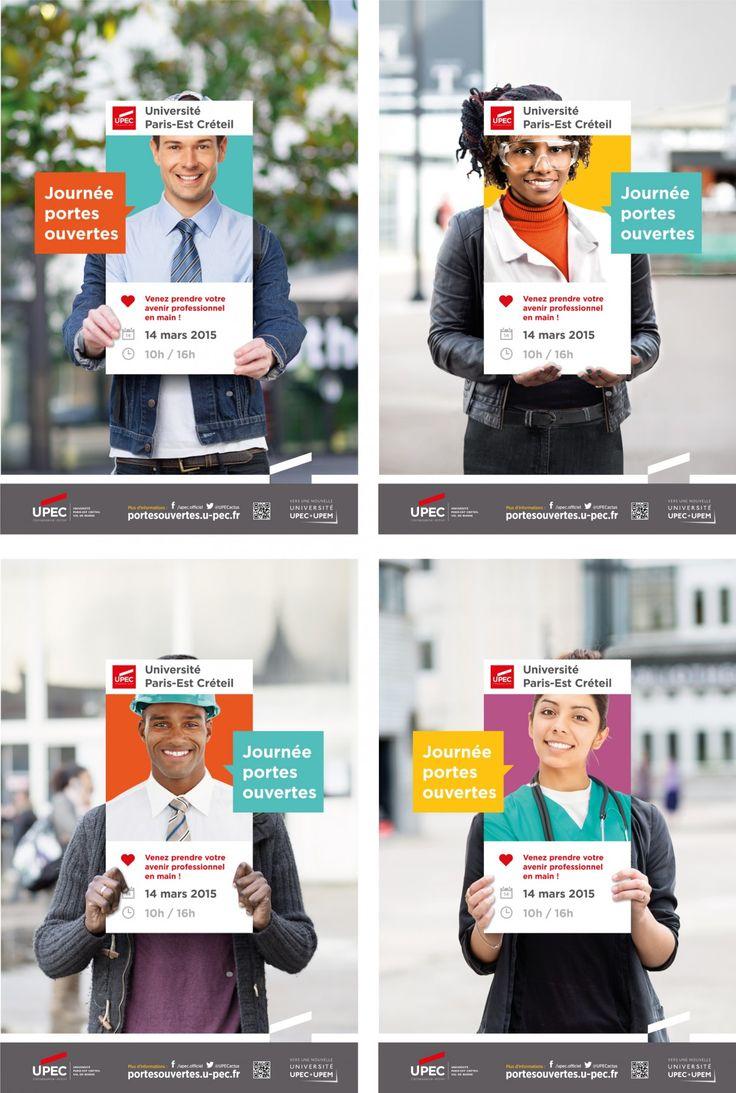 La campagne pour les journées portes ouvertes de l'Université Paris-Est-Créteil... venez prendre votre avenir en main...  http://www.grapheine.com/divers/affiche-portes-ouvertes-upec