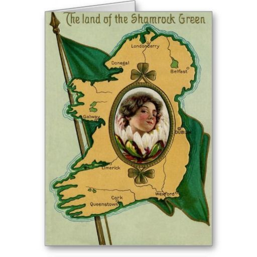 Irish Flag Shamrock | Irish Flag Ireland Shamrock Cards