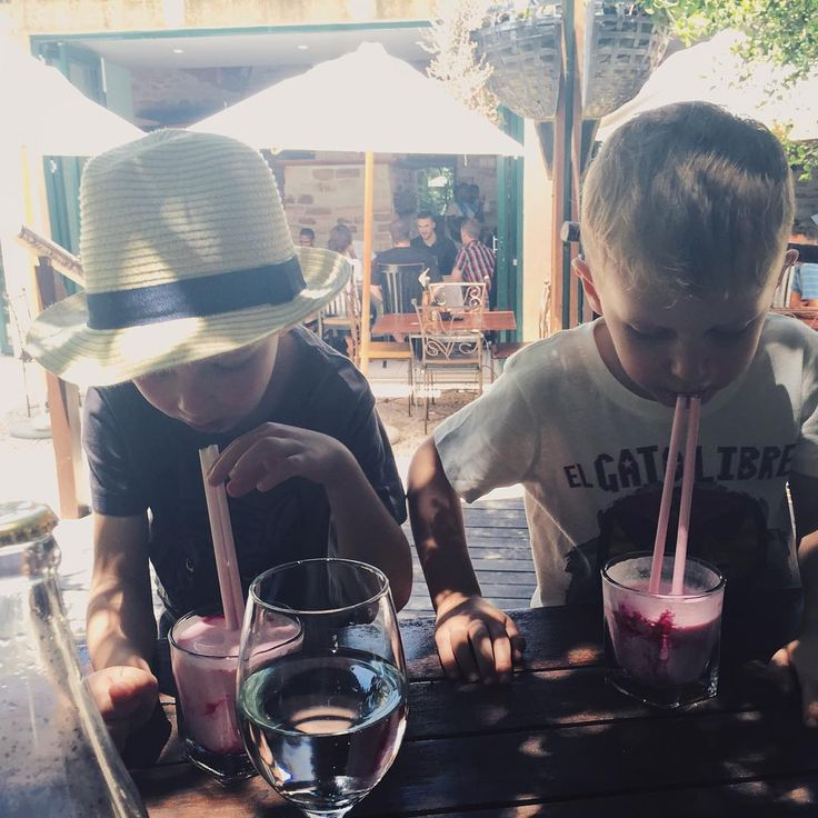 Taking a break from hunting dinosaurs at Kirstenbosch we rewarded ourselves with lunch at Moyo. And milkshakes of course #kirstenbosch #moyo #milkshake