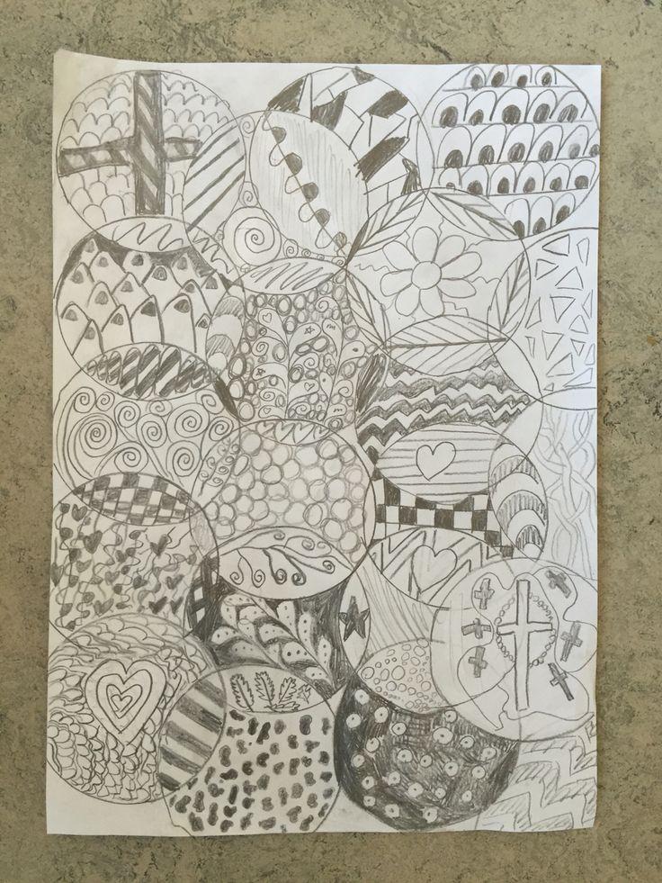 2. klasse arbejder med Doodle farvelægning