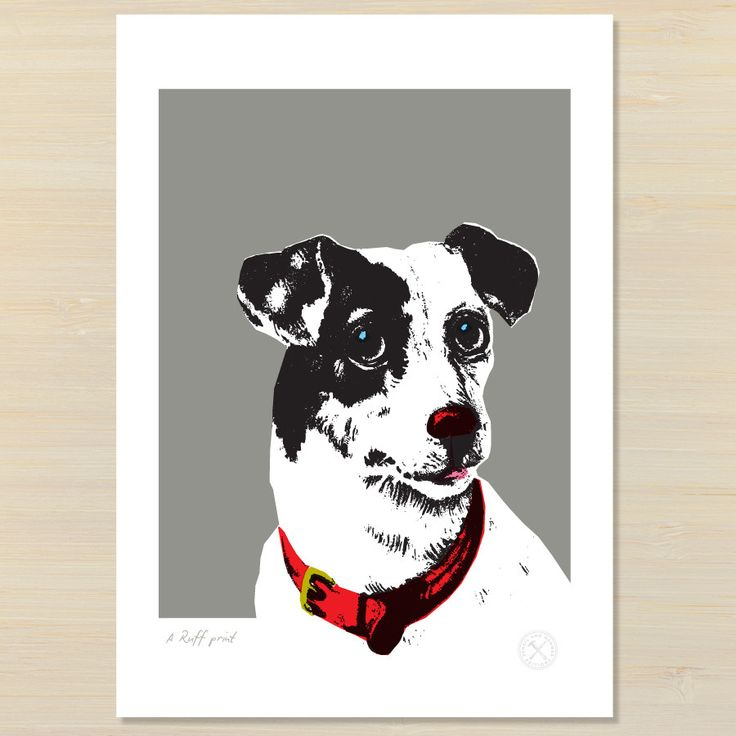 A Ruff print   dog art print   Pencil and Hammer – Pencil and Hammer art prints