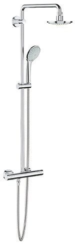 """Features: -Euphoria collection. -Grohe DreamSpray®. -Spray: Rain. -SpeedClean® anti-lime system. -17 11/16"""" shower arm. -Bar with adjustable height hand shower holder. Shower Head Type: -Slide"""