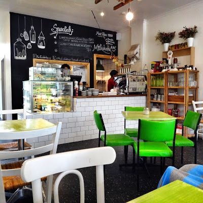 One of my favourites!  Great food and coffee, high chair, kid's menu and playground next door!